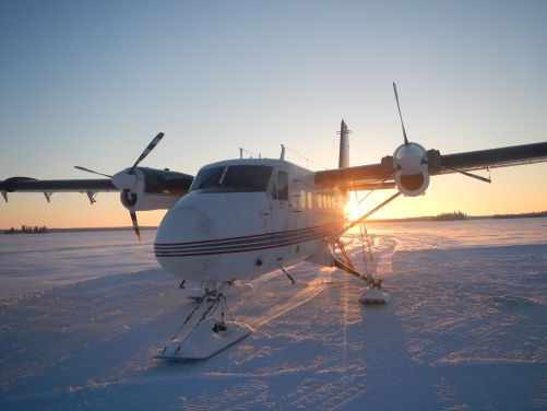 DHC-6 Twin Otter on skis