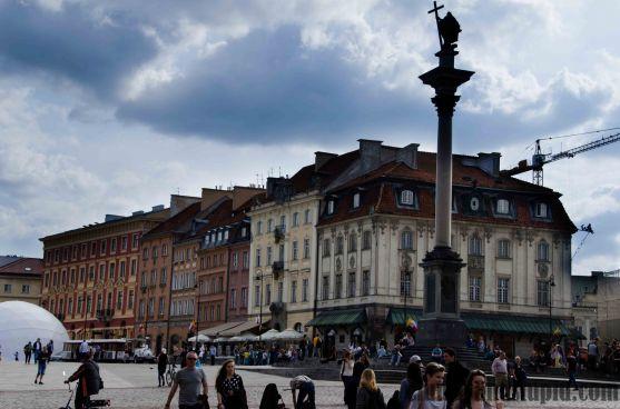 Castle Square in Warsaw/ Plac Zamkowy w Warszawie