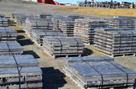 Core boxes full of kimberlite