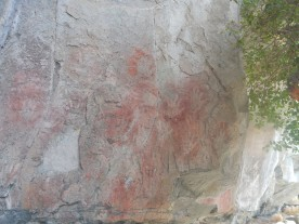 Prehistoric hand paintings